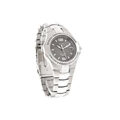 腕時計 セイコー Seiko Coutura ダイヤモンド メンズ チャコール ダイヤル ステンレス スチール 腕時計 SGED27