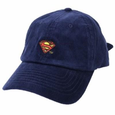 スーパーマン コーデュロイ 刺繍 ベースボールキャップ 帽子 Sシールド DCコミック 男女兼用 キャラクター グッズ