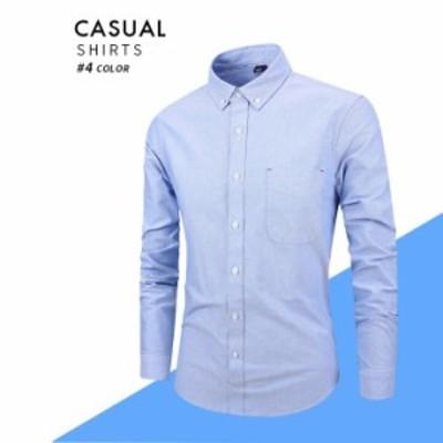 メンズ ワイシャツ 長袖 形態安定 綿製 トップス Yシャツ シャツ cs06