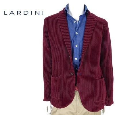 LARDINI ラルディーニ コーデュロイジャケット メンズ IELJM19 ワイン テーラードジャケット ベロア ニット イタリア製