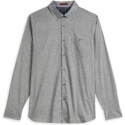 テッドベーカー Ted Baker メンズ シャツ トップス Floden Ls All Over Floral Printed Shirt GREY