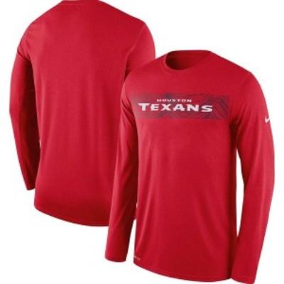 ナイキ メンズ Tシャツ トップス Houston Texans Nike Sideline Seismic Legend Long Sleeve T-Shirt Red