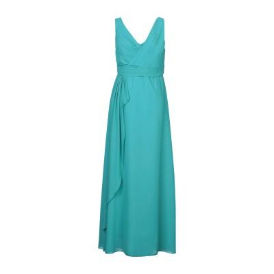 HOPE COLLECTION ロングワンピース&ドレス ターコイズブルー L ポリエステル 100% ロングワンピース&ドレス