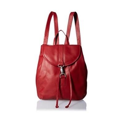 Piel Leather Medium Drawstring Backpack, Red 並行輸入品