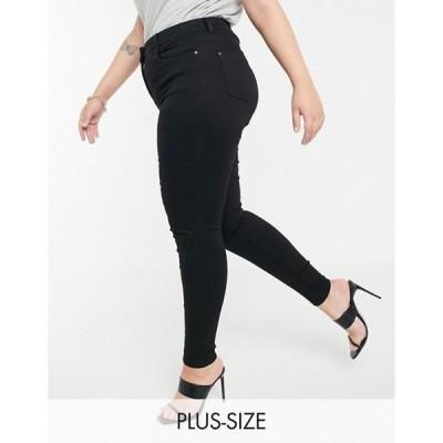 ユアーズ レディース デニムパンツ ボトムス Yours skinny jeans in black