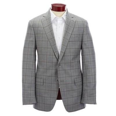 ハート シャフナー マルクス メンズ ジャケット・ブルゾン アウター Modern Fit Light Grey Plaid Wool Sportcoat