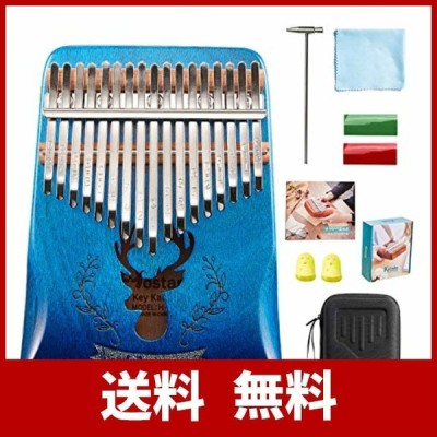 Hostaro カリンバ 親指ピアノ ピアノ17キー 人気 高級保護ケース付き 清掃クロス付き アフリカ楽器 初心者向 日本語マニュアル (グレードア