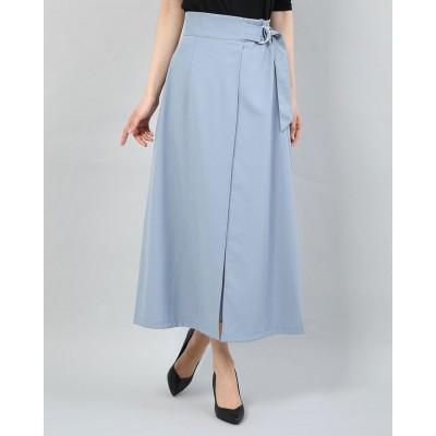 アルシーヴ archives インプリーツラップスカート (BLUE)