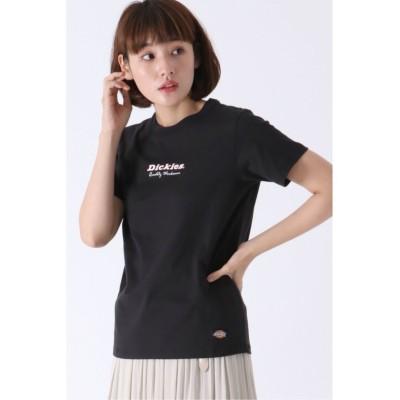 【イッカ】 Dickies ロゴプリントTシャツ レディース ブラック L ikka