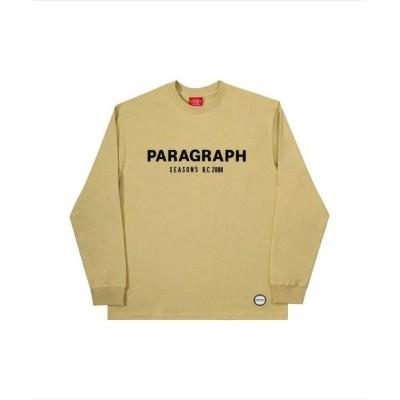 【エルエイチピー】 Paragraph/パラグラフ/ロゴプリントロングスリーブTシャツ/Seasons L/S Tee メンズ イエロー F LHP