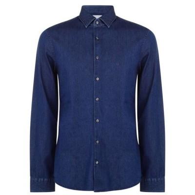 カルバンクライン シャツ メンズ トップス Slim Denim Shirt