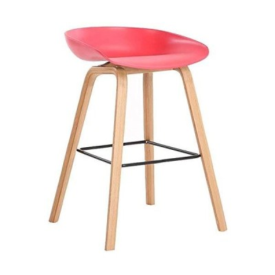 Bar Stool Modern Simplicity Kitchen Chair Solid Wood Frame Bar Chair Ring-Shaped Pedal Bar Furniture Bearing Weight。Counter Height bar sto