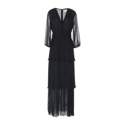 PAOLO CASALINI ロングワンピース&ドレス ブラック S ポリエステル 100% ロングワンピース&ドレス