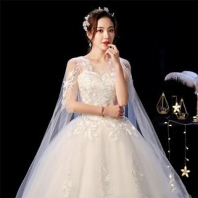 【新店キャンペーン!レビュー投稿ポイント返還】ウェディングドレス パーティードレス ウエディングドレス Aライン韓国風ウェディング