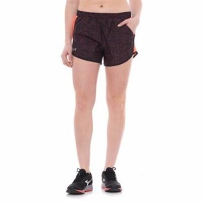 アンダーアーマー ショートパンツ Fly By Printed Shorts - Built-In Briefs Marathon Red