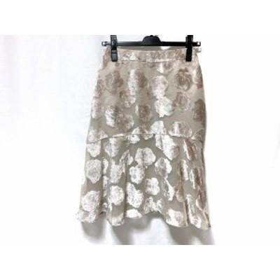 トゥービーシック TO BE CHIC スカート サイズ40 M レディース 新品同様 ベージュ×ピンク【中古】20200422