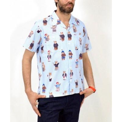 シャツ ブラウス オリジナルプリント PAUL半袖オープンカラーシャツ