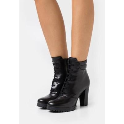 アンナフィールド レディース ブーツ LEATHER - High heeled ankle boots - black