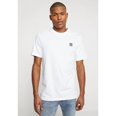 アディダスオリジナルス Tシャツ メンズ トップス ADICOLOR ESSENTIAL TEE - Print T-shirt - white