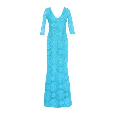 SOANI ロングワンピース&ドレス スカイブルー 40 ポリエステル 95% / ポリウレタン 5% ロングワンピース&ドレス