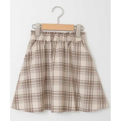 (a.v.v(KID'S)/アーヴェヴェ キッズ)[100-130]インナーパンツ付きギャザースカート[WEB限定サイズ]/キッズ チェック