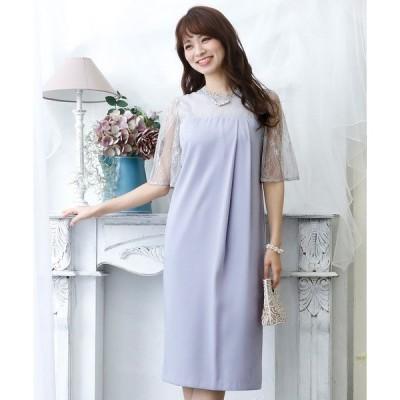 ドレス チュールボックスワンピース/結婚式ワンピース お呼ばれ・二次会・セレモニー大きいサイズ対応フォーマルパーティードレス