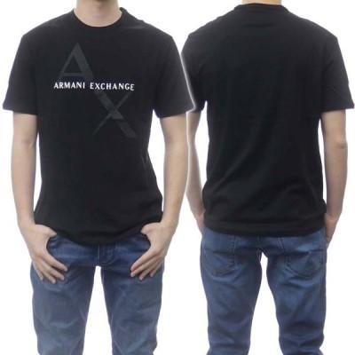 ARMANI EXCHANGE アルマーニエクスチェンジ メンズクルーネックTシャツ 8NZT76 Z8H4Z ブラック /2021春夏新作