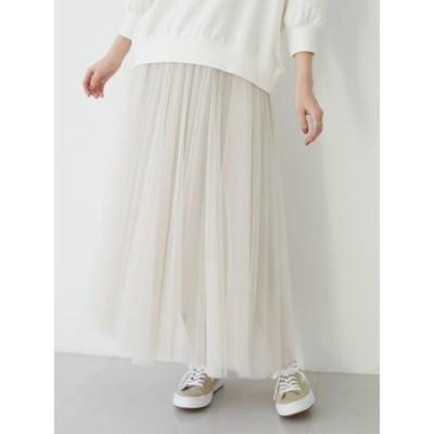 ・furry rate チュールギャザースカート