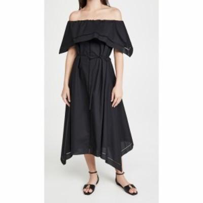 セオリー Theory レディース ワンピース ワンピース・ドレス Off shoulder Eyelet Dress Black