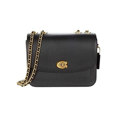 COACH Refined Calf Leather Madison Shoulder Bag Black One Size