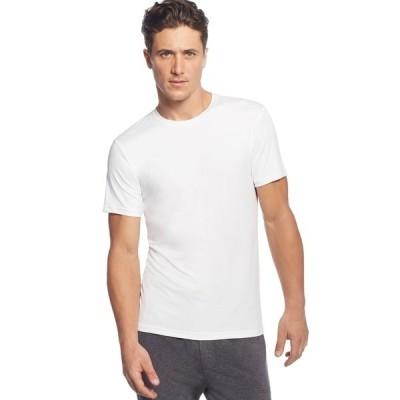 32ディグリー Tシャツ トップス メンズ Men's Cool Ultra-Soft Light Weight Crew-Neck Sleep T-Shirt White