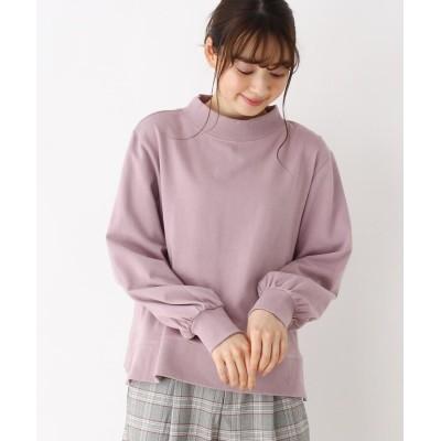 pink adobe(ピンクアドベ) <スーピマコットン>裏毛モックネックプルオーバー