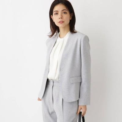 アクアガール aquagirl 【ママスーツ/入学式 スーツ/卒業式 スーツ】カラーレスジャケット (グレー)