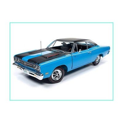"American Muscle 1969 Plymouth Road Runner Hardtop Petty Blue with Black Top & Black Stripes Looney Tunes Class of 1969"" 1/18 Diecast Model C"
