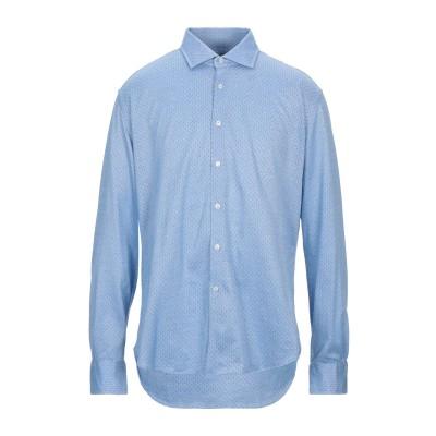 XACUS シャツ アジュールブルー 45 コットン 100% シャツ