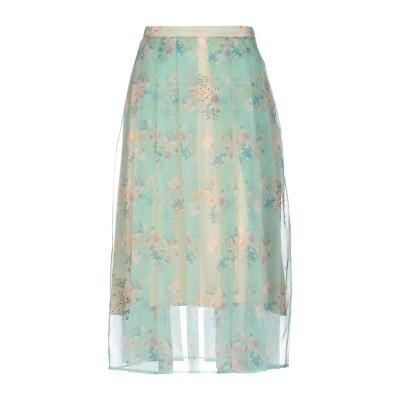 クリストファー・ケイン CHRISTOPHER KANE 7分丈スカート ライトグリーン 44 シルク 100% / ガラス 7分丈スカート