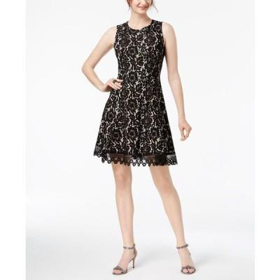 ドナリッコ ワンピース トップス レディース Sleeveless Lace Dress Black