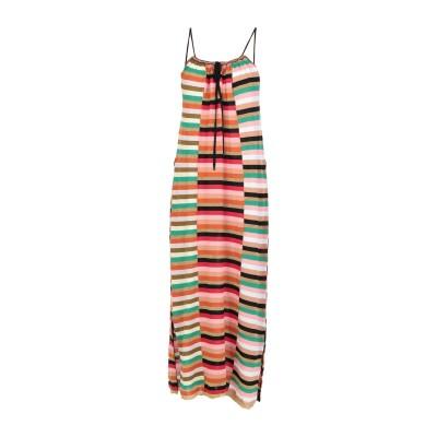 SUOLI 7分丈ワンピース・ドレス レッド 40 コットン 85% / ポリエステル 8% / ナイロン 7% 7分丈ワンピース・ドレス