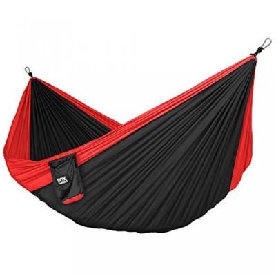 テント Neolite Double Camping Hammock - Lightweight Portable Nylon Parachute Hammock for Backpacking, Travel, Beach, Yard. Hammock Straps & Steel