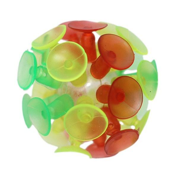 吸盤球 玻璃吸盤球 黏黏球/一個入(定15) 直徑約6cm 粘粘球童玩 玩具球 黏壁球-義-佳503103-1