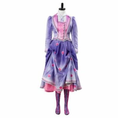 高品質 高級コスプレ衣装 ディズニー メリー・ポピンズ 風 オーダーメイド コスチューム ドレス 2018 Mary Poppins Returns 2 Cosplay Co