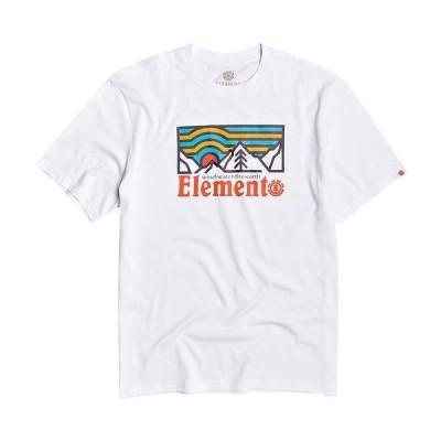 エレメント メンズ Tシャツ トップス Wanders Short-Sleeve Graphic T-Shirt Optic White