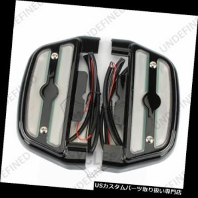 ハーレートライクのための黒く明確なLEDによって照らされる乗客の足台フットボードカバーキット