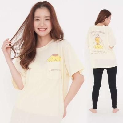 レディースサイズ 半袖Tシャツ タテノリプリン サンリオキャラクターズ Tシャツ プリントTシャツ