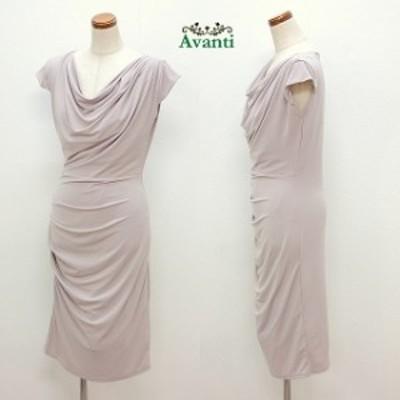 パーティードレス439 エレガントなドレープの袖付きドレス 着丈の長いストレッチの結婚式ドレス 即納 送料無料