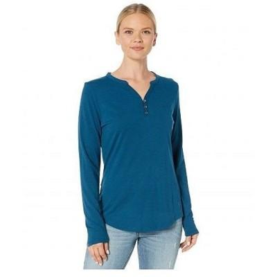 Royal Robbins ロイヤルロビンズ レディース 女性用 ファッション Tシャツ Merinolux(TM) Henley Long Sleeve - Harbor