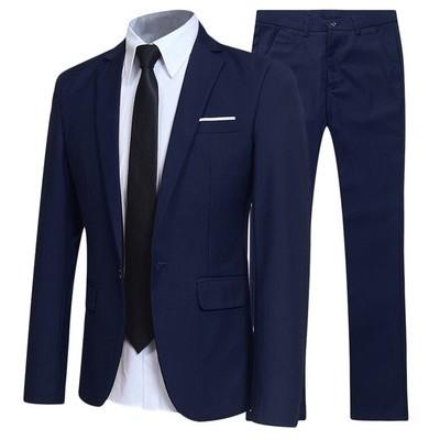 メンズ スーツ ビジネス セットアップ 上下セット 無地 長袖 1つボタン フォーマル 通勤 オフィス 結婚式 卒業式 4色展開 大きいサイズあり S~5XL