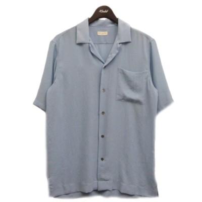DRIES VAN NOTEN 半袖シアーシャツ ブルー サイズ:46 (渋谷神南店) 201101