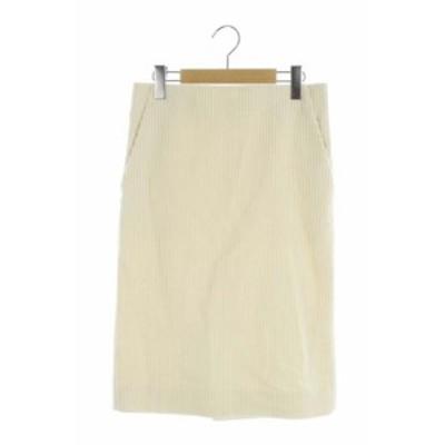 【中古】ドゥロワー Drawer スカート ロング タイト コーデュロイ 36 白 /AO ■OS レディース