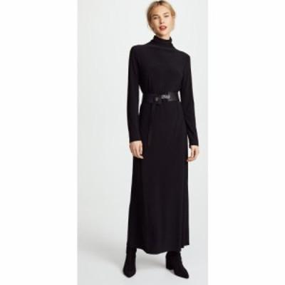 ノーマ カマリ Norma Kamali レディース ワンピース マキシ丈 ワンピース・ドレス Kamali Kulture Go Turtleneck Maxi Dress Black